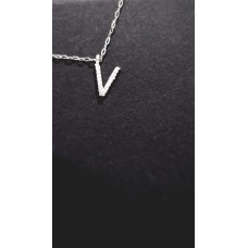 Lant Argint 925 cu INITIALA, 40 cm