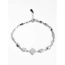 Bratara Argint Reglabila cu Cristale Asimetrice