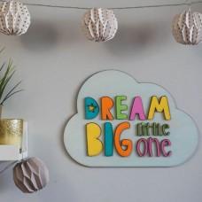 Decoratiune Personalizata cu Nume si Mesaj Dream Big