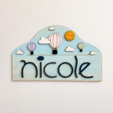 Decoratiune Personalizata cu Nume - Baloane Colorate