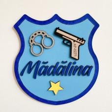 Decoratiune Personalizata cu Nume - Politie