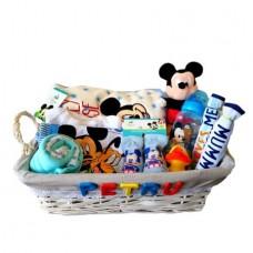 Cos Cadou Nou Nascut Mickey Mouse, 11 piese