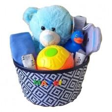 Cos Cadou Personalizat Ursulet cu Balon, 9 Piese