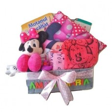 Cos Cadou Personalizat Minnie Mouse, 10 Piese