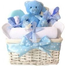 Cos Cadou Baietel Baby Shower, 12 Piese