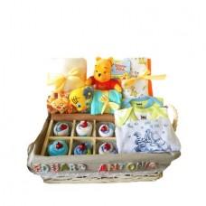 Cos Cadou pentru Bebelusi Winnie the Pooh, 21 piese