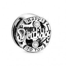 Talisman Argint pt Bratara Plata - Happy Birthday To You