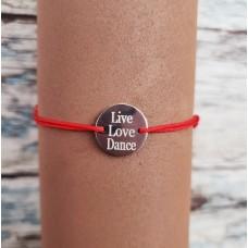 Bratara cu banut din Argint LIVE LOVE DANCE