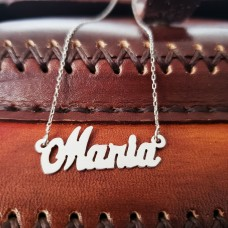 Colier personalizat argint Maria