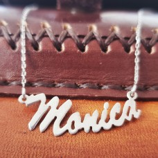 Colier Argint cu nume personalizat Monica