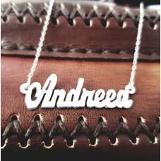 Colier Argint cu nume personalizat Andreea