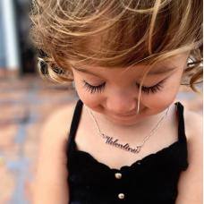 Colier Argint cu nume personalizat Valentina