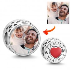 Charm Argint Personalizat Foto - Family Forever