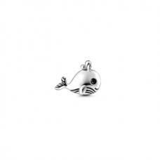 Balena - Charm mic pentru medalion plutitor