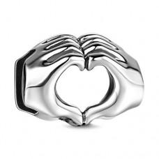 Talisman Argint Gest de Iubire - pentru bratara plata