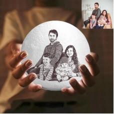 Photo Moon Lamp, Personalizata 3D, Photo Light, Lamp Moon - 2 culori 10cm-20cm