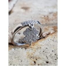 Inel Argint Cu Pandantiv Trifoi
