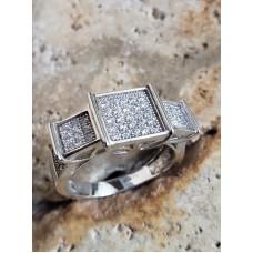 Inel Argint Cristale Stralucitoare