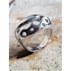 Inel Argint Cercuri Perforate