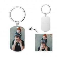 Breloc Personalizat Foto - Otel inoxidabil